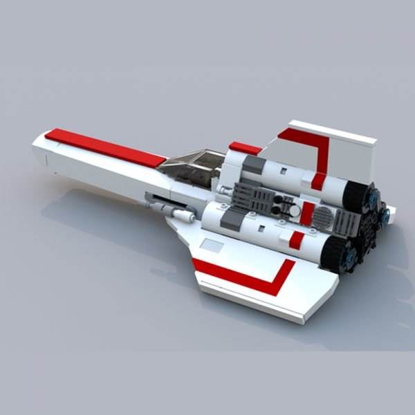 MOC 23012 Battlestar Galactica MK1 Colonial Viper White Space by apenello MOC FACTORY 2 - MOULD KING