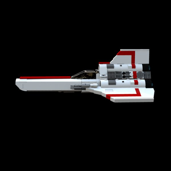 MOC 23012 Battlestar Galactica MK1 Colonial Viper White Space by apenello MOC FACTORY 3 - MOULD KING