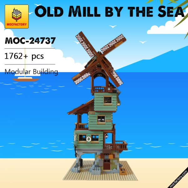 MOC 24737 Old Mill by the Sea Modular Building by nobsta MOC FACTORY - MOULD KING