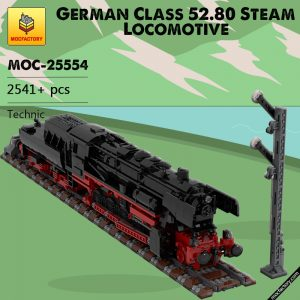 MOC 25554 German Class 52.80 Steam Locomotive Technic by TOPACES MOC FACTORY - MOULD KING