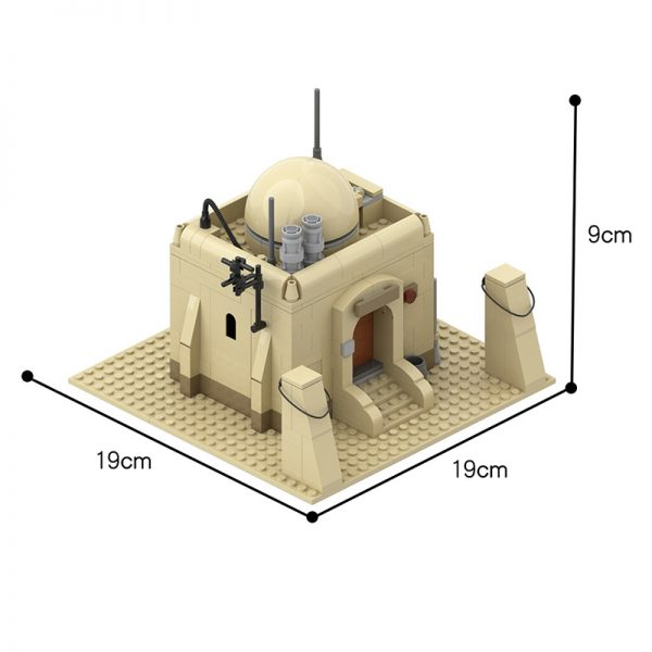 MOC 26468 Tatooine Single House Building TAT01 Star Wars by azzer86 MOC FACTORY 2 - MOULD KING
