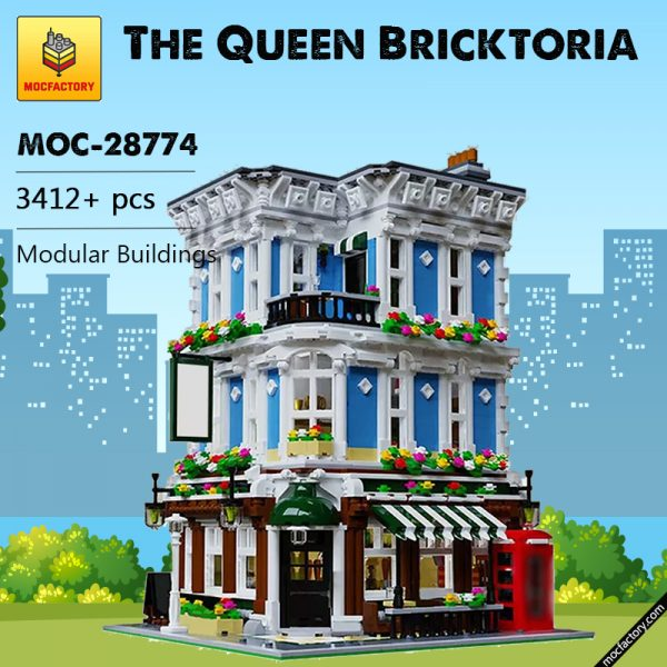 MOC 28774 The Queen Bricktoria Modular Buildings by Bricked1980 MOC FACTORY 2 - MOULD KING
