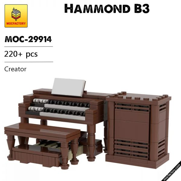 MOC 29914 Hammond B3 Creator by TOPACES MOC FACTORY - MOULD KING