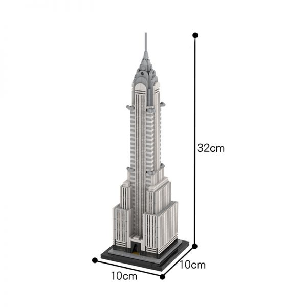 MOC 30051 Chrysler Building Modular Building by TOPACES MOC FACTORY 3 - MOULD KING