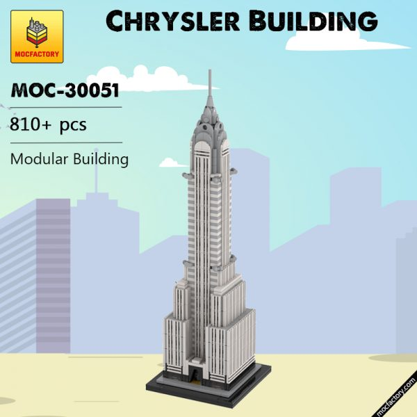 MOC 30051 Chrysler Building Modular Building by TOPACES MOC FACTORY - MOULD KING