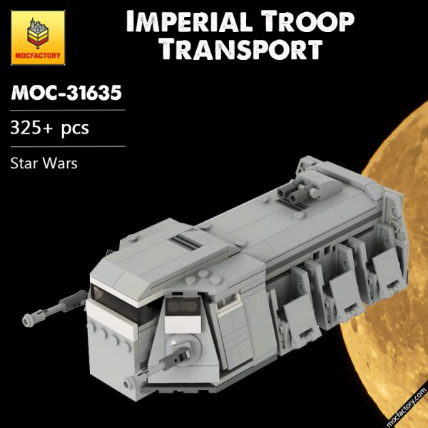 MOC 31635 Imperial Troop Transport Star Wars by GamerBambii MOC FACTORY - MOULD KING