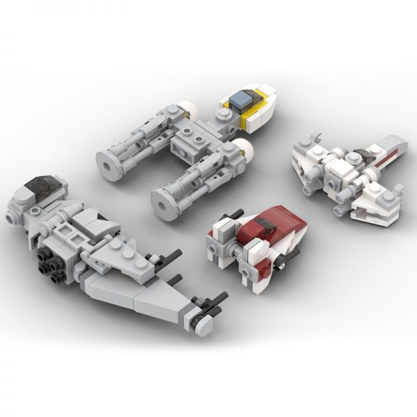 MOC 32286 Micro Rebel Starfighters Original Trilogy Star Wars by ron mcphatty MOC FACTORY 2 - MOULD KING