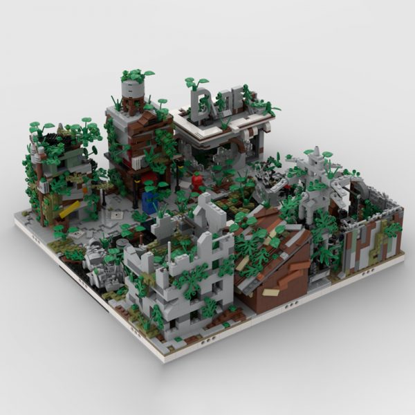 MOC 32889 Ruined City Build from 9 Different Mocs Modular Building by gabizon MOC FACTORY 2 - MOULD KING