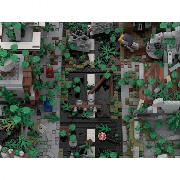 MOC 32889 Ruined City Build from 9 Different Mocs Modular Building by gabizon MOC FACTORY 4 - MOULD KING