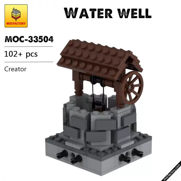 MOC 33504 Water well modular Creator by Tavernellos MOC FACTORY - MOULD KING