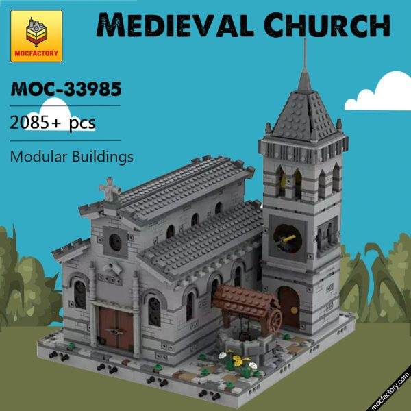 MOC 33985 Medieval Church Modular Building by Tavernellos MOCFACTORY 5 - MOULD KING