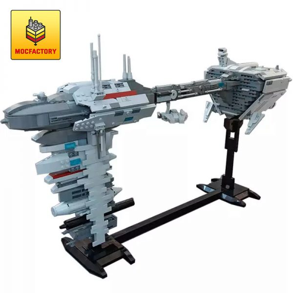 MOC 34757 EF76 Nebulon B Escort Frigate with micro Millenium Falcon by Rubblemaker MOC FACTORY - MOULD KING