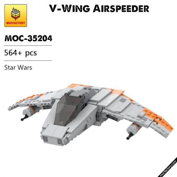 MOC 35204 V Wing Airspeeder Star Wars by LegoJLenny MOC FACTORY - MOULD KING
