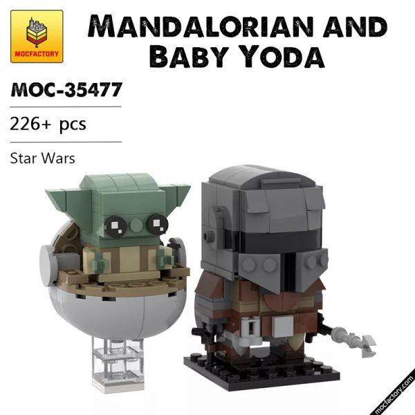 MOC 35477 Mandalorian and Baby Yoda Star Wars by custominstructions MOCFACTORY - MOULD KING