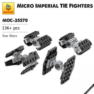 MOC 35570 Micro Imperial TIE Fighters Star Wars by ron mcphatty MOC FACTORY - MOULD KING