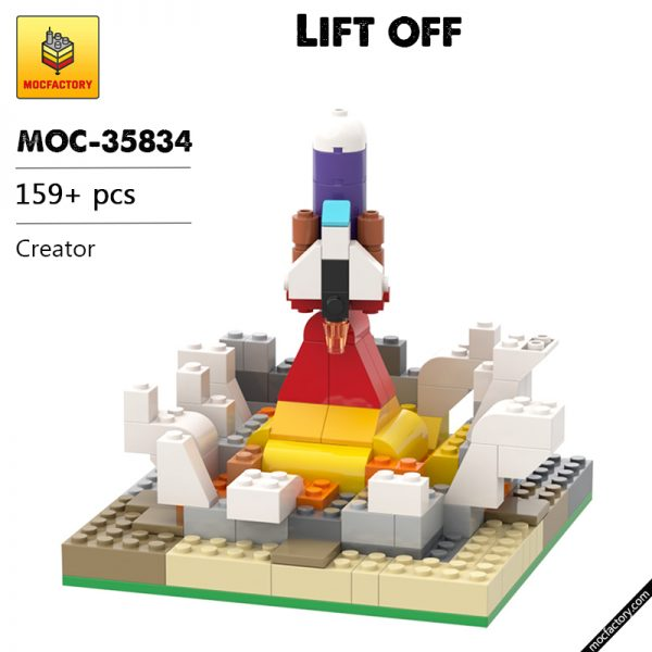 MOC 35834 Lift off Creator by BrickBrush MOC FACTORY - MOULD KING