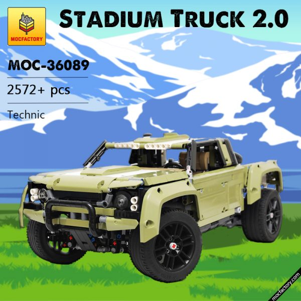 MOC 36089 Stadium Truck 2.0 Technic by grohl MOC FACTORY - MOULD KING