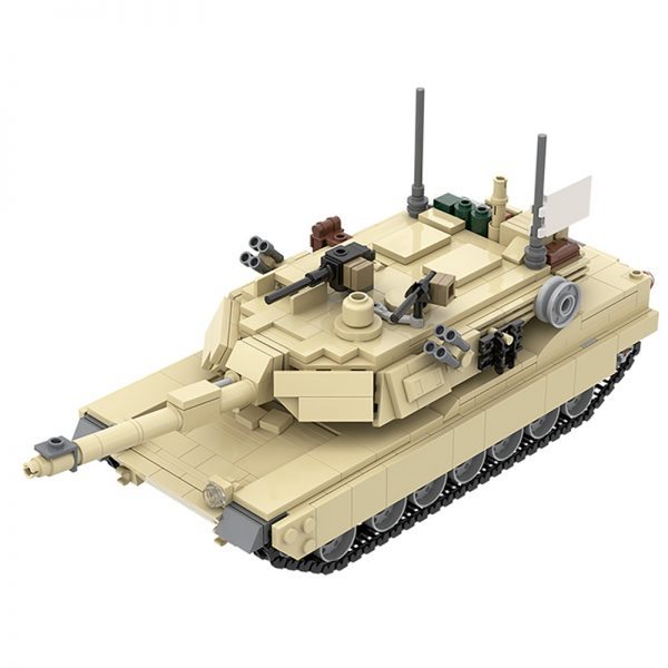 MOC 36237 M1A2 Abrams Tank w interior Military by TOPACES MOC FACTORY 2 - MOULD KING