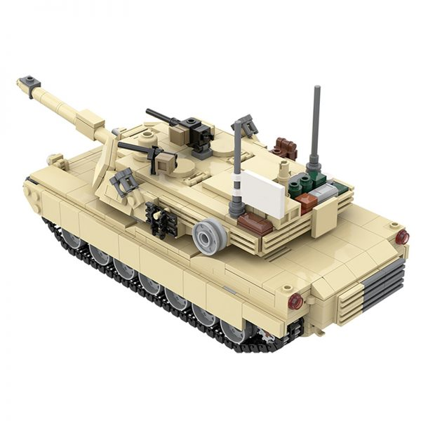 MOC 36237 M1A2 Abrams Tank w interior Military by TOPACES MOC FACTORY 3 - MOULD KING