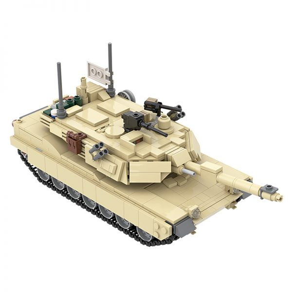 MOC 36237 M1A2 Abrams Tank w interior Military by TOPACES MOC FACTORY 4 - MOULD KING