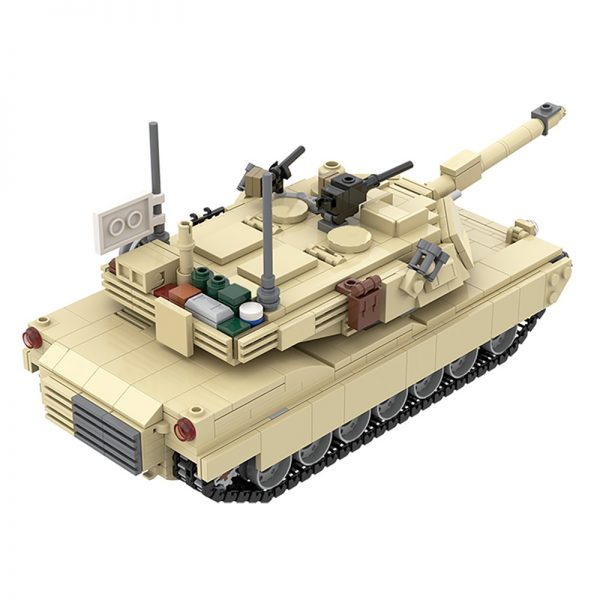 MOC 36237 M1A2 Abrams Tank w interior Military by TOPACES MOC FACTORY 5 - MOULD KING