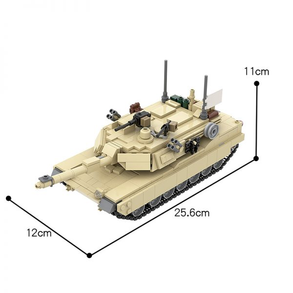 MOC 36237 M1A2 Abrams Tank w interior Military by TOPACES MOC FACTORY 6 - MOULD KING