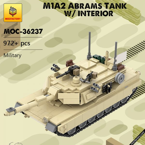 MOC 36237 M1A2 Abrams Tank w interior Military by TOPACES MOC FACTORY - MOULD KING