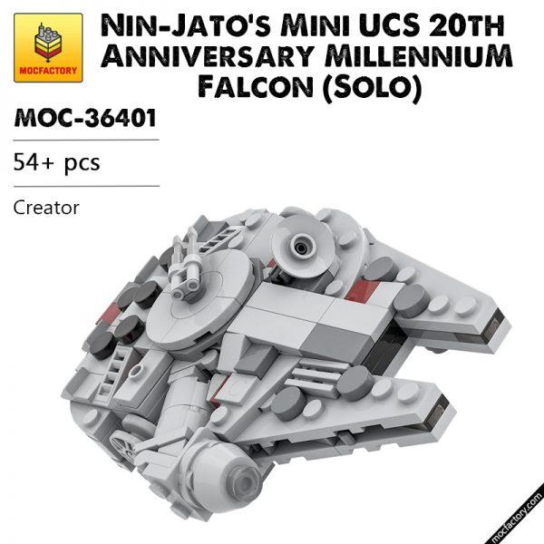 MOC 36401 Nin Jatos Mini UCS 20th Anniversary Millennium Falcon Solo Star Wars by Force of Bricks MOC FACTORY - MOULD KING
