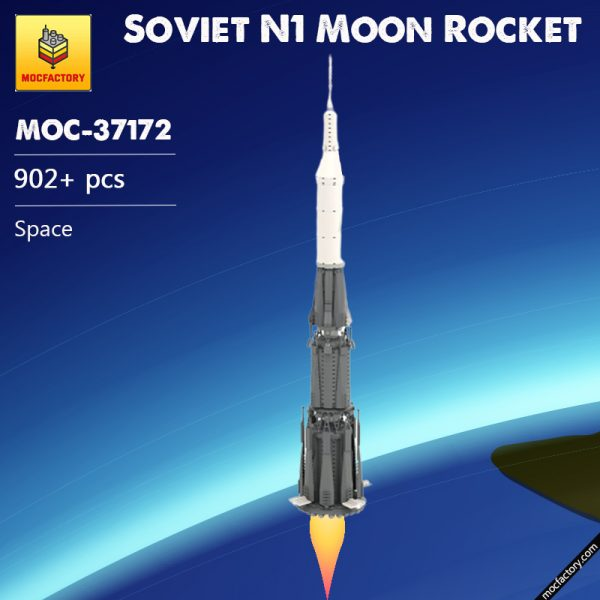 MOC 37172 Soviet N1 Moon Rocket Space by Spangle MOC FACTORY - MOULD KING
