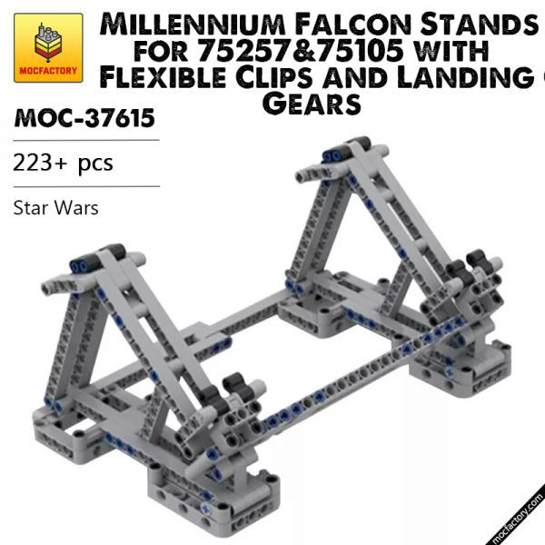 MOC 37615 Millennium Falcon Stands for 7525775105 with Flexible Clips and Landing Gears Star Wars by darajan MOCFACTORY - MOULD KING