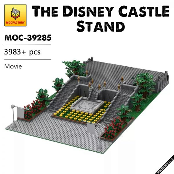 MOC 39285 The Disney Castle Stand by terryoleary MOC FACTORY - MOULD KING