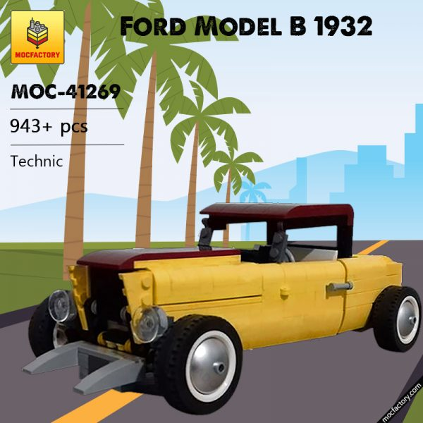 MOC 41269 Ford Model B 1932 Technic by ale0794 MOC FACTORY - MOULD KING