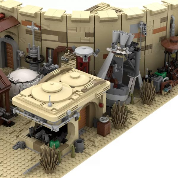 MOC 41406 Mos Eisley Spaceport from A New Hope 1977 Star Wars by ZeRadman MOC FACTORY 6 - MOULD KING
