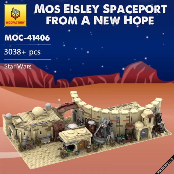 MOC 41406 Mos Eisley Spaceport from A New Hope 1977 Star Wars by ZeRadman MOC FACTORY - MOULD KING