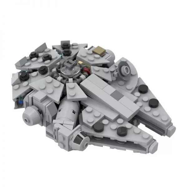 MOC 41461 Millenn ium Falcon Micro With cradle stand Star Wars by 6211 MOCFACTORY 2 - MOULD KING