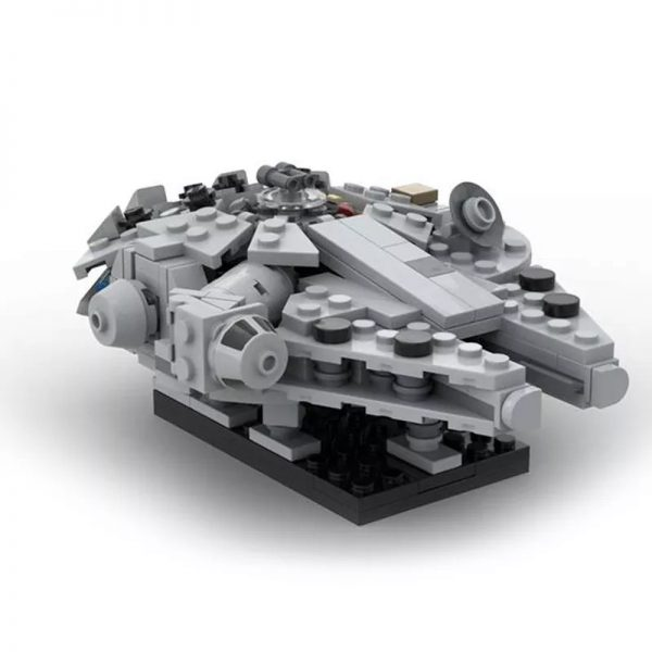 MOC 41461 Millenn ium Falcon Micro With cradle stand Star Wars by 6211 MOCFACTORY 3 - MOULD KING