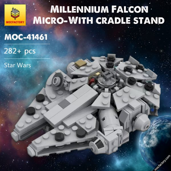 MOC 41461 Millenn ium Falcon Micro With cradle stand Star Wars by 6211 MOCFACTORY - MOULD KING