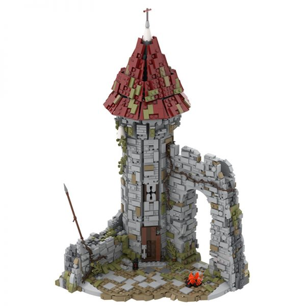 MOC 42261 Castle for the game Dark Souls Modular Building by povladimir MOC FACTORY 2 - MOULD KING