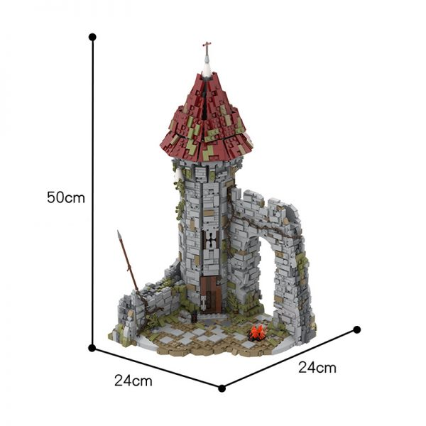 MOC 42261 Castle for the game Dark Souls Modular Building by povladimir MOC FACTORY 7 - MOULD KING