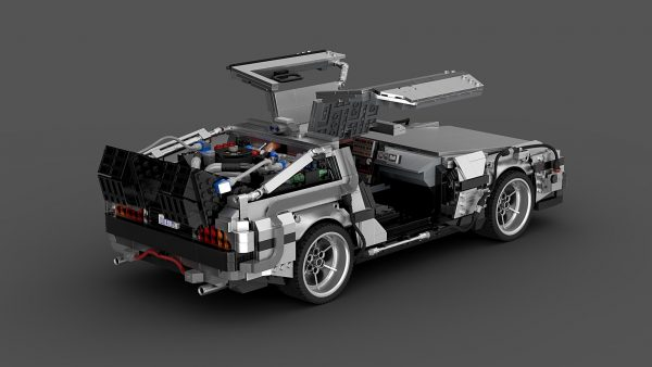 MOC 42632 Back to the Future 1985 DeLorean Time Machine byluissaladrigas MOC FACTORY 1 - MOULD KING