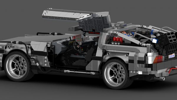 MOC 42632 Back to the Future 1985 DeLorean Time Machine byluissaladrigas MOC FACTORY 10 - MOULD KING