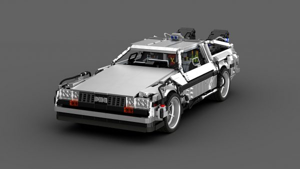 MOC 42632 Back to the Future 1985 DeLorean Time Machine byluissaladrigas MOC FACTORY 2 - MOULD KING