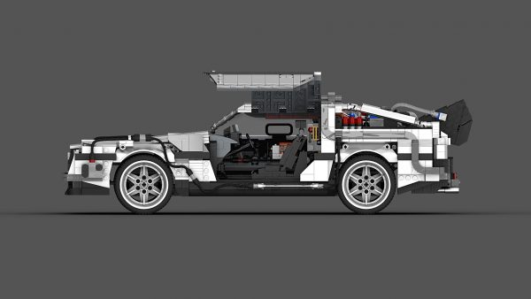 MOC 42632 Back to the Future 1985 DeLorean Time Machine byluissaladrigas MOC FACTORY 5 - MOULD KING