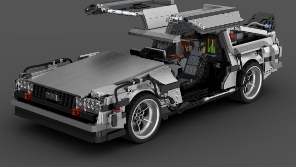 MOC 42632 Back to the Future 1985 DeLorean Time Machine byluissaladrigas MOC FACTORY 9 - MOULD KING