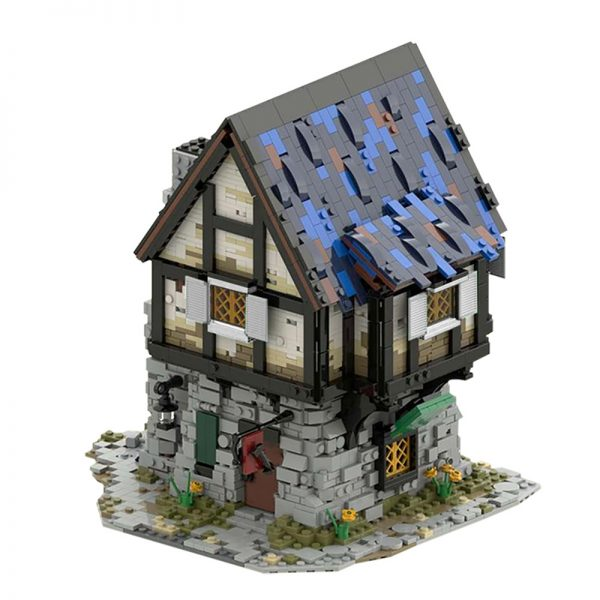 MOC 44070 The Medieval Smithy Modular Building by povladimir MOC FACTORY 2 - MOULD KING
