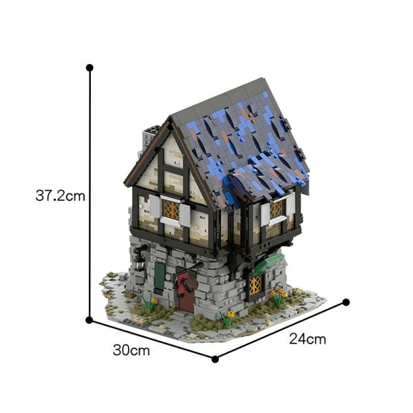 MOC 44070 The Medieval Smithy Modular Building by povladimir MOC FACTORY 3 - MOULD KING