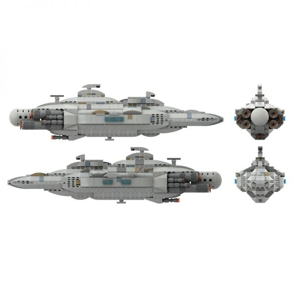 MOC 44432 Mon Calamari MC80 Home One type Star Cruiser Star Wars by Red5 Leader MOC FACTORY 4 - MOULD KING