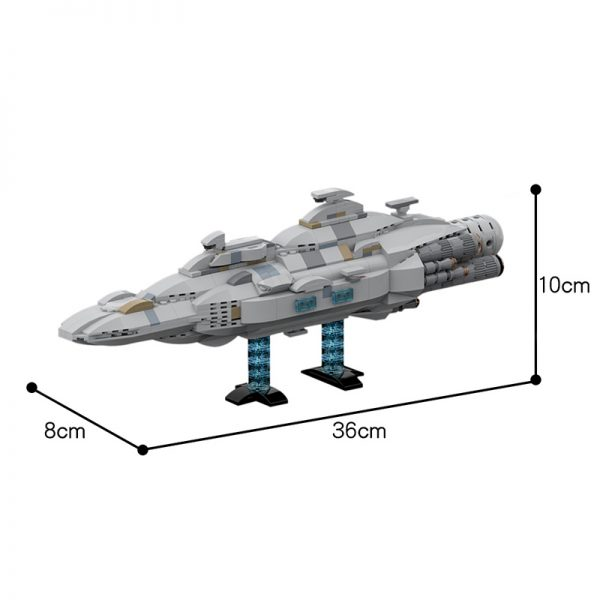 MOC 44432 Mon Calamari MC80 Home One type Star Cruiser Star Wars by Red5 Leader MOC FACTORY 5 - MOULD KING