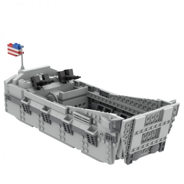 MOC 44445 D Day WWII Landing Craft Higgins Boat Military by ZeRadman MOC FACTORY 2 - MOULD KING