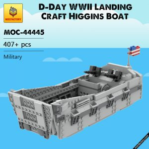 MOC 44445 D Day WWII Landing Craft Higgins Boat Military by ZeRadman MOC FACTORY - MOULD KING
